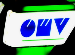 OMV Light box Neon Reklame Leuchtkasten Neon signs