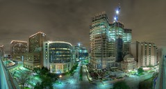 180 degrees of one of Houston's finest gifts (telwink) Tags: county new st night hospital construction texas rice houston center medical harris lukes med stlukes texasmedicalcenter mdandersoncancercenter mdanderson holcombe uth uthouston medctr utmed panographers