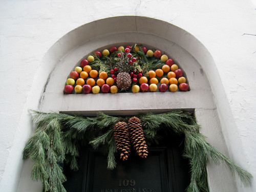 Fruit above holiday door