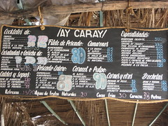 The menu (Cody La Bière) Tags: winter food beach menu mexico warm oaxaca nourriture huatulco ensaladas tropicalparadise february2008 especialidades huatulcooaxaca