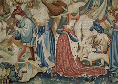 Detail from a Tapestry decpicting scenes of a Boar and Bear Hunt, Museum no. T.204-1957.