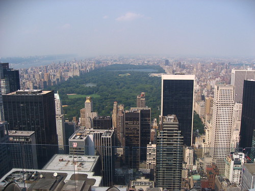 Central Park, from the top of the Rockfeller Tower