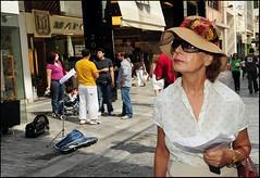 Close Up (Costas Lycavittos) Tags: street people color colour closeup nikon streetphotography athens d300 ermou nikkor1224 costaslycavittos flashonface
