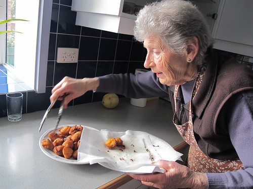Nonna with fritole