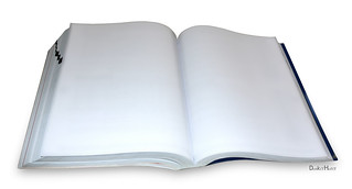Blank Open Book - Illustration