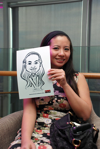Caricature live sketching for TLC - 4