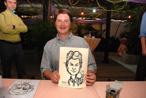 Caricature live sketching for Mark and Ivy's wedding solemization - 12