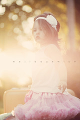 Vintage L O V E ([FIRE eyes]) Tags: pink light sunset portrait baby sun girl vintage toddler soft child bright bokeh pastel daughter retro flare goldenhour pettiskirt florabellaactions