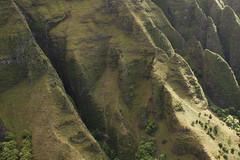 Kauai (Cargo Cult) Tags: usa hawaii spring technology unitedstates aircraft aerial cliffs hills transportation kauai helicopters kilauea