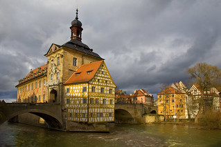 Townhall of Bamberg - bridge over troubled water