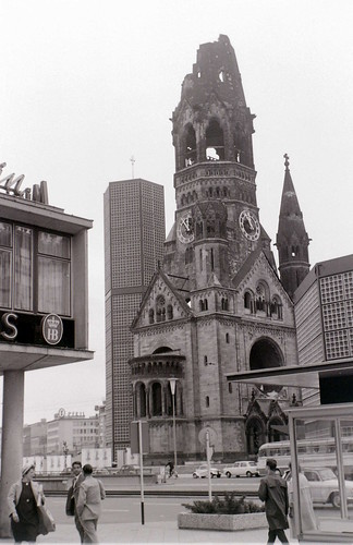Kaiser Wilhelm memorial church, West Berlin, 25 August 1962