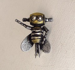 Buzzbee the Robot Bee Wood Pendant Ornament Dangle (Builders Studio) Tags: wood fiction people sculpture man art classic statue metal trek toy person star robot punk comic technology geek mechanical tech metallic space painted machine artificial science retro steam nasa replica ia figure scifi pulp wars figurine android prop mecha droid geekery bot mech robo automaton steampunk robotic cyclon