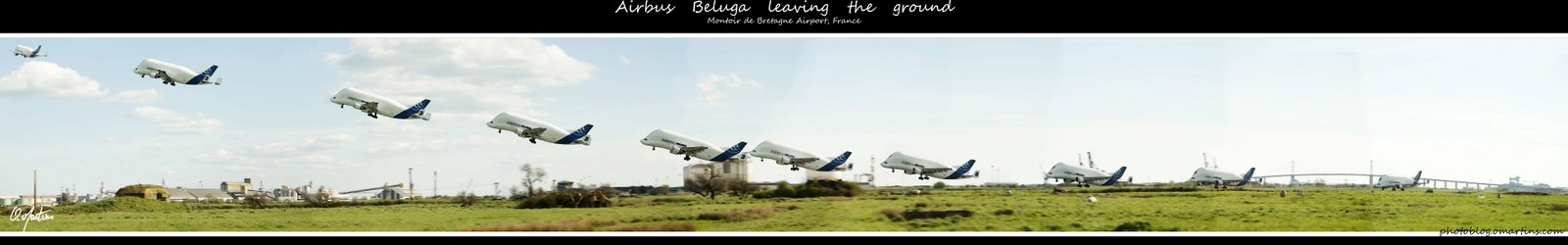 Decollage du Beluga d'Airbus