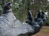 20080409_1883 Cradle (williewonker) Tags: art public foot glasses hand fingers australia victoria palm odd orangutan 2008 werribee helenlempriere nationalsculptureaward friendlychallenges