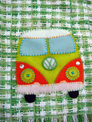 lime-n-orange-vw-01 (ragamufyn) Tags: vw scarf artist florida miami handmade embroidery south indie etsy applique ftlauderdale volkswagon ragamufyn mufyn