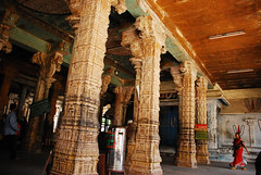 161 (Ravages) Tags: old people india history monument stone architecture temple place weekend pillars ravages tamilnadu kanchi chola kanchipuram indianness kanceepuram vijayanagara vaishnavite varadarajaperumal