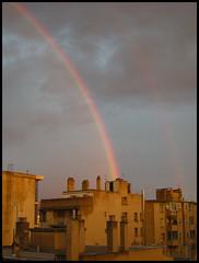 Il a plu sur Marseille... (Bltrk) Tags: jaune marseille rainbow ciel immeuble arcenciel btiments
