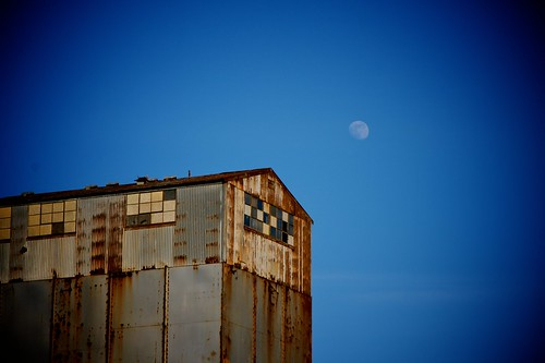A Moon And A Building