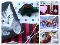 swap recebida :) (Cor da Rosa) Tags: beads fdsflickrtoys coraes gato swap fios tartaruga troca gomas gales