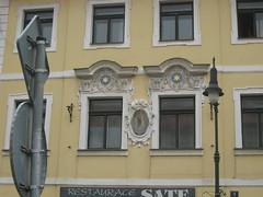 two stars (KLGreenNYC) Tags: signs stars prague czechrepublic pohorelec