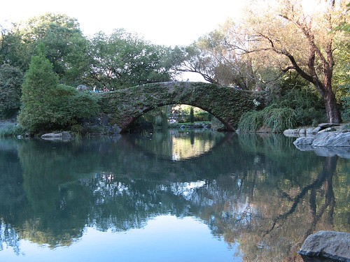 The bridge in Central Park.