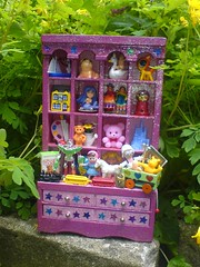 Toy Cabinet 3 (Rainbow Mermaid) Tags: pink house cute glitter toys miniature doll dolls cabinet handmade craft kitsch mini kawaii hutch etsy unicorns dresser unicorn dollhouse cuboard rainbowmermaid