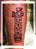tatuagem totem na canela TARZIA TATTOO -