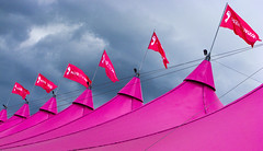 Think Pink (Kenny Maths) Tags: pink scotland edinburgh flag tent moonwalk breastcancer themeadows kennymathieson golddragon mywinners rubyphotographer