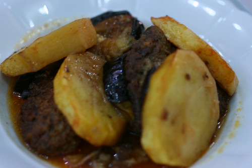 Meat, Eggplant, and Potato