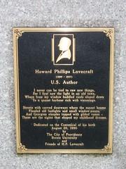 The H.P. Lovecraft Memorial Plaque 2