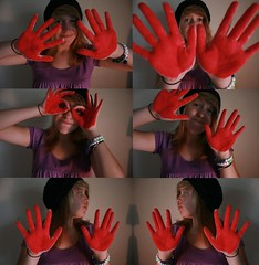 """red-handed"" (Ally Newbold) Tags: from old red portrait people silly me by self work allison photography photo am o guess inspired like it since her mia stupid looks oh killa six deviantart say caught uh meh ahah handed speghetti goldstaraward polyptech"