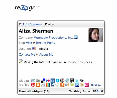 retaggr for aliza sherman