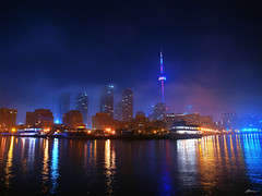 foggy night (paul bica) Tags: city longexposure sky lake toronto water fog night buildings lights downtown cntower reflexions hdr blueribbonwinner singintheblues golddragon outdooes diamondclassphotographer flickrdiamond theperfectphotographer goldstaraward multimegashot oraclex