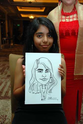 caricature live sketching for wedding dinner 120708  - 41