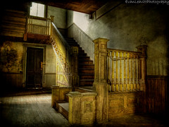 Whispers (evanleavitt) Tags: county light shadow house texture abandoned stairs rural ga georgia sad decay empty south nolan olympus spooky lonely morgan hdr the e510 bostwick photomatix