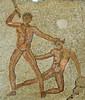 Teseu matant el Minotaure, mosaic, Cirene, Líbia