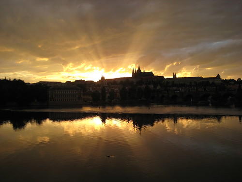 Prague Castle in the sunset