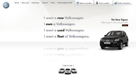 VW homepage
