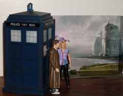 The Doctor and Rose arrive on New Earth