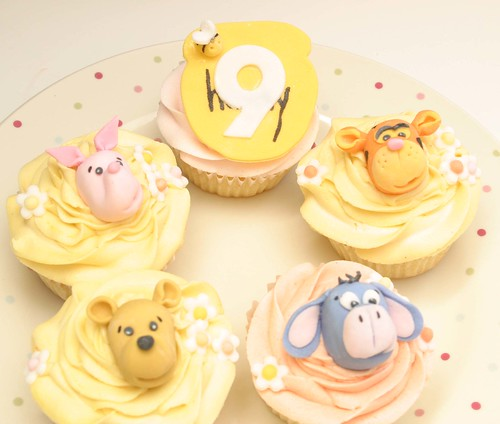 Winnie-the-Pooh and Friends Cupcakes