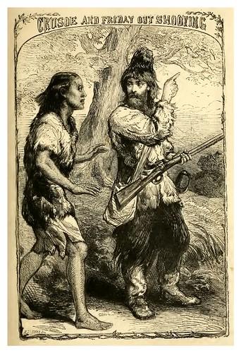 16- Crusoe y Viernes en una caceria con escopeta