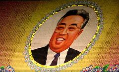 The Dear leader Kim is smiling to you! (ShanLuPhoto) Tags: day kim flag north games korea il communism national gymnastics leader mass dear socialism jong pyongyang sung dprk  arirang