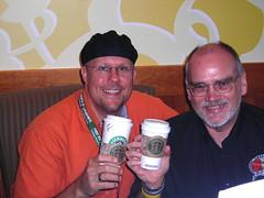Cheers to you from Starbucks - Coffee shops 2008, #34 (Earl - What I Saw 2.0) Tags: selfportrait coffee tea maryland starbucks sp cheers sbux glenburnie nikonl2 tazozen 10secondtimershot