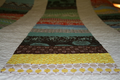 Stacked Coin Quilt - Detail