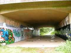 Nr Tiverton Parkway Station, Devon (DG Jones) Tags: underpass graffiti devon ruraldecay westcountry tiverton tivertonparkway