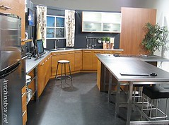 TV studio kitchen set of Fox40 Live in Sacramento