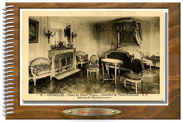 59 - VERSAILLES - Grand TRIANON Chambre de Marie-Antoinette
