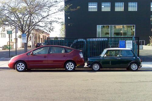 Prius vs. Rover Mini