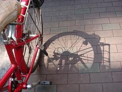 Shadows and Spokes (crystoforo) Tags: shadow bicycle tokyo ginza tsukiji top36 top50 topfavorite topphotos