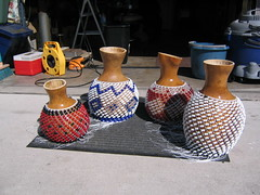 custom chekeres (Pacific Coast Percusssion) Tags: music art drums coast pacific photos african percussion afro rumba cuban instruments worldmusic latinmusic cajon folkloric afrocuban shekere guiro chekere pacificcoastpercussion